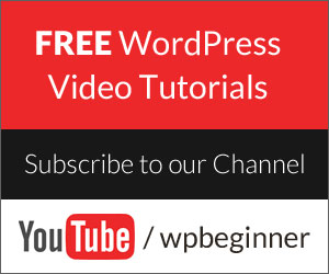 Follow WPBeginner on YouTube