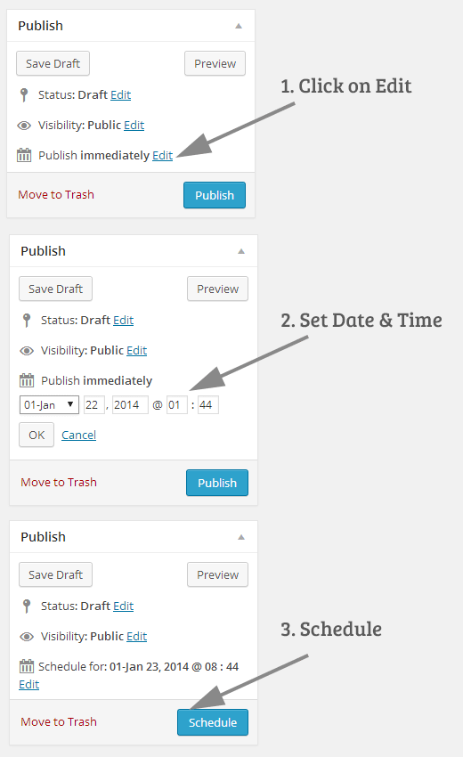 Schedule Your Posts in WordPress