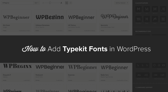 Typekit Fonts in WordPress