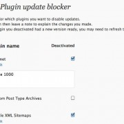 Plugin Updates Blocker Plugin for WordPress Designers / Developers