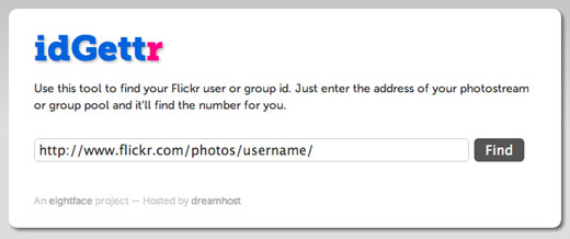 Get your Flickr ID