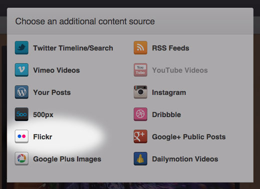 SlideDeck Dynamic Content Source - Flickr
