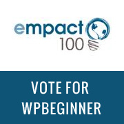 Empact 100 - Vote for WPBeginner