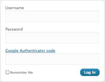 Google Authenticator WordPress Login