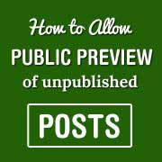 Public Post Preview in WordPress
