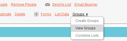 MailChimp View Groups
