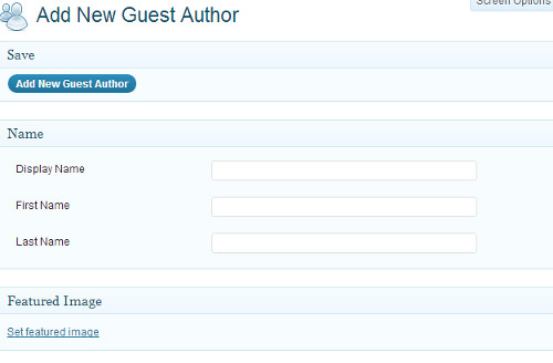 Add Guest Author Screen for Co-Author Plus
