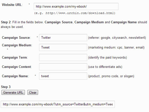 Generating a URL with UTM pa