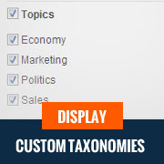 Display Custom Taxonomies