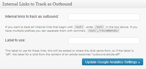 Tracking internal links as outbound links