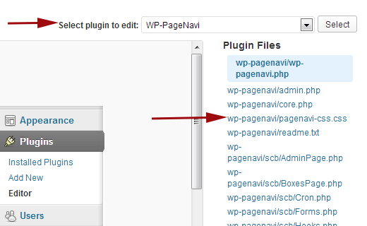 Copy the contents of pagenavi-css file