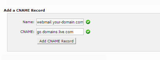 Adding CNAME record to DNS resources using cPanel DNS editor