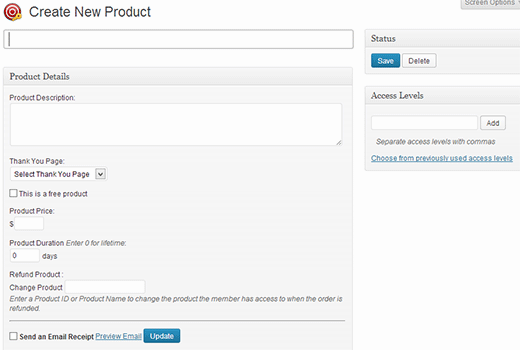 Adding a new product in Premise