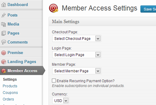 Setting up Member access in Premise