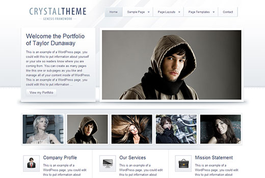 Crystal a Portfolio theme by StudioPress