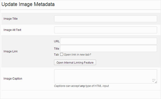 Entering meta-data for slides in a WordPress slider created with Soliloquy