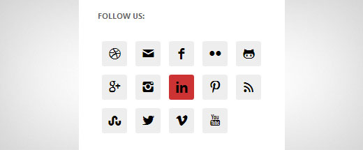 Adding simple social icons in WordPress sidebar