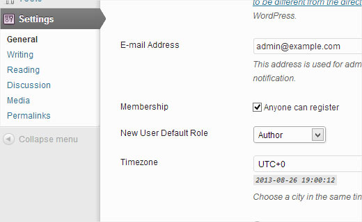 Allowing users to register on your WordPress Site