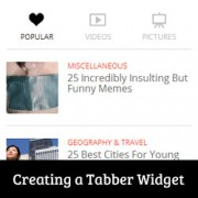 Tabber Widget in WordPress