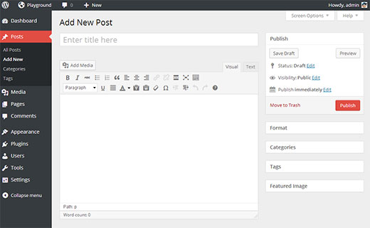 A new user interface for the admin area is announced for WordPress 3.8
