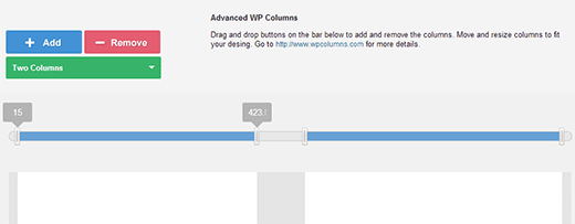 Adjusting widths of your columns