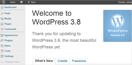 Old wp-admin User Interface in WordPress 3.8