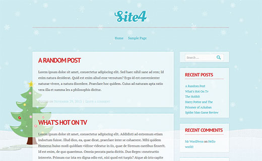 Spirit - A Holiday Theme for your WordPress blog