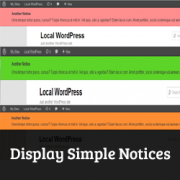 How to Display Simple Notices in WordPress
