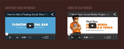 Enable video embeds in WordPress text widgets
