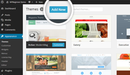 Add New Themes in WordPress