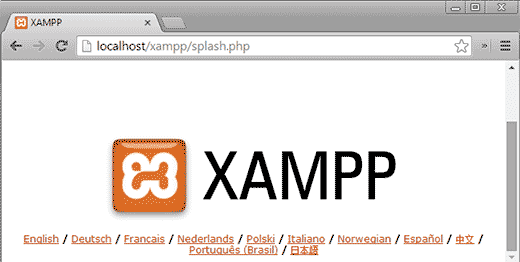 XAMPP successfully installed on a USB drive