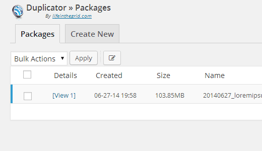 Duplicator - Backup and Migration Plugin for WordPress