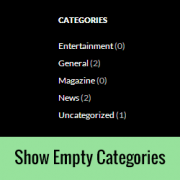 How to Show Empty Categories in WordPress Widgets