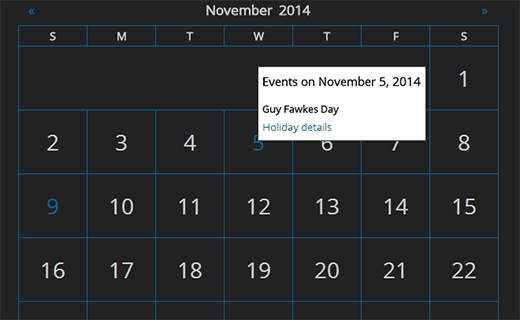 Google Calendar Events preview