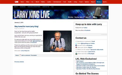 Larry King Liveblog