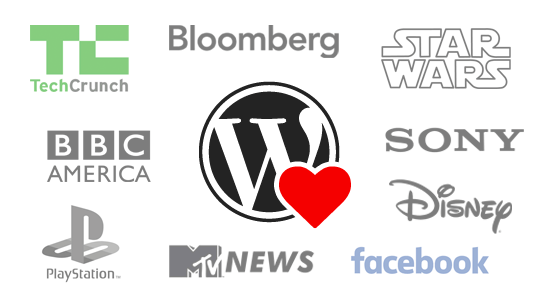Big Name WordPress popularity