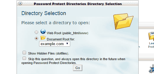 Choose document root
