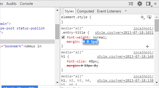 inspect element how to change text