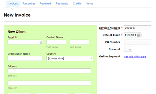How to create invoices for clients using wordpress for How to send invoice to client