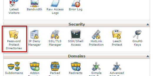 Password protect a WordPress site using cPanel