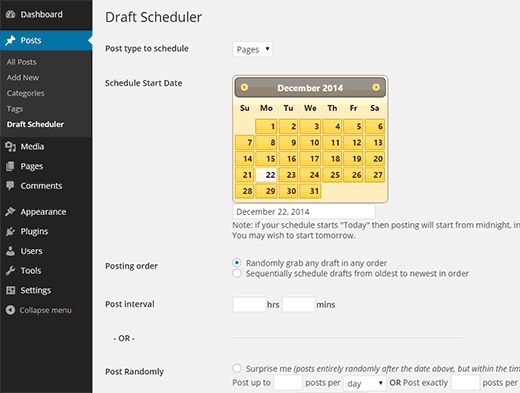 Draft Scheduler
