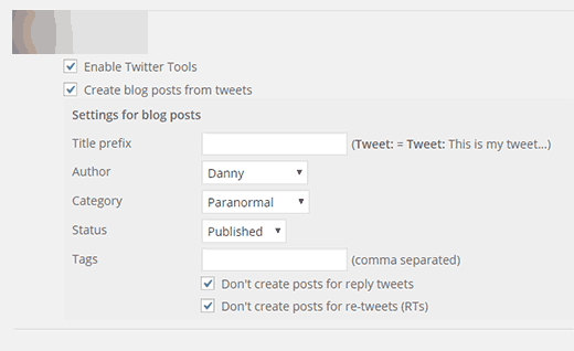 Twitter tools archiving your tweets as posts in WordPress