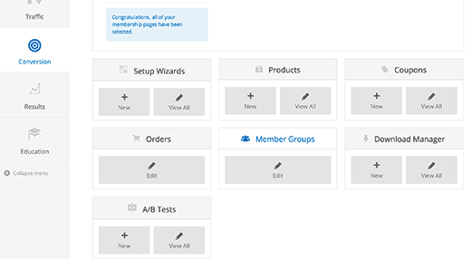 Creating products and member groups
