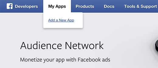 Creating a new Facebook app