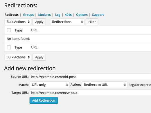 how to create a redirect page