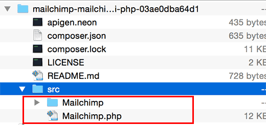 MailChimp API Files