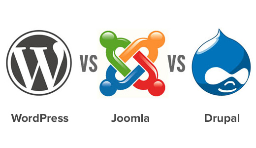 Image result for wordpress vs joomla vs drupal