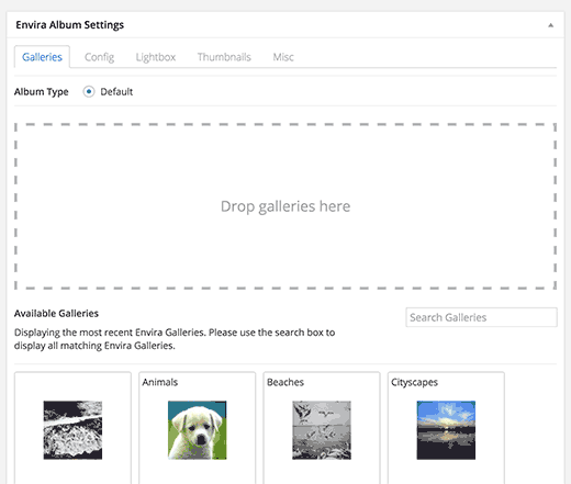 Configuring album settings
