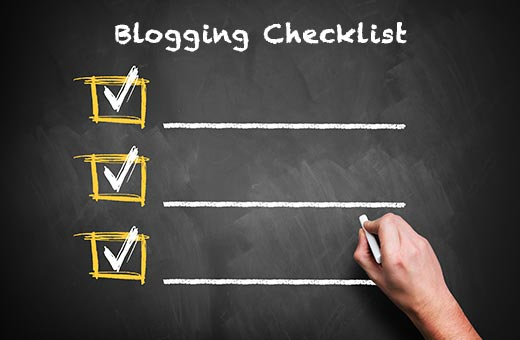 Adding a blogging checklist to improve editorial workflow