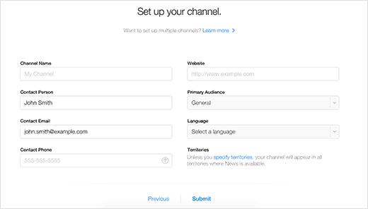 Setting up your channel on Apple News